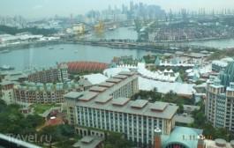 Сингапур. Остров  Sentosa. Башня Tiger Sky Tower. Пляж Siloso Beach