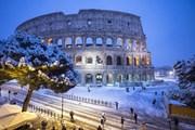 Италию завалило снегом