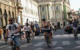 В центре Праге запретили ездить на велосипедах