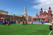 На Красной площади появился развлекательный Парк футбола