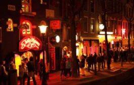 Улицы квартала красных фонарей в Амстердаме перекрыты