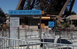 Второй день подряд туристы не могут подняться на Эйфелеву башню