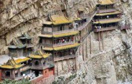 Знаменитый висячий храм в Китае снова открыт для туристов